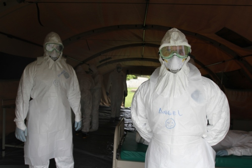 Cuban doctors train to fight Ebola in West Africa.