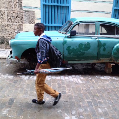 Going to school in Havana.