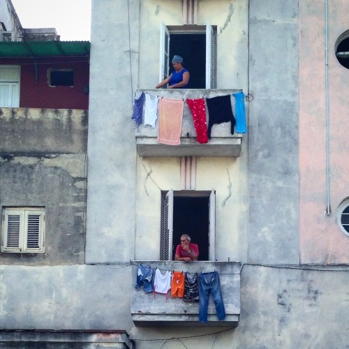 Laundry day in the El Vedado neighborhood of Havana.