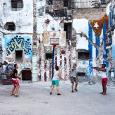 Basketball in Centro Habana.