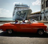 Carnival's cruise arrives in Havana.