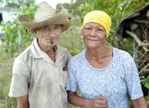 A guajiro couple in Céspedes, Cuba.