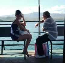 On the ferry to Cayo Granma, Cuba.